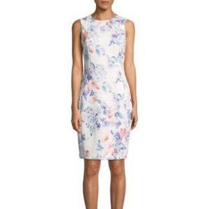 Never Worn - Calvin Klein Sleeveless Floral Dress